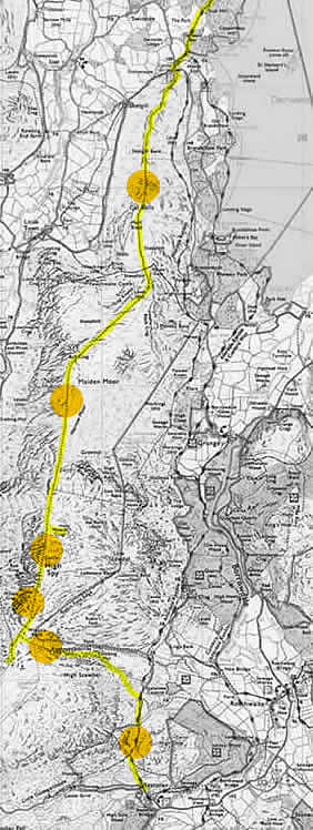 Route map of a walk from Seatoller to Cat Bells via High Spy and Maiden Moor with our destination being Keswick.